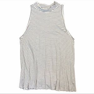 Ginger G High Neck Striped Tank Top